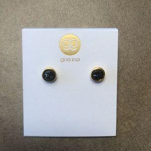 black studded earrings